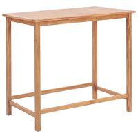 vidaXL dārza bāra galds, 120x65x110 cm, masīvs tīkkoks