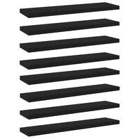 vidaXL plauktu dēļi, 8 gab., melni, 40x10x1,5 cm, skaidu plāksne