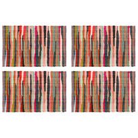 vidaXL Chindi galda paliktņi, 4 gab., krāsaini, 30x45 cm, kokvilna