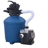 vidaXL baseina sūknis ar smilšu filtru un taimeri, 530 W, 10980 L/h