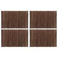 vidaXL Chindi galda paliktņi, 4 gab., brūni, 30x45 cm, kokvilna