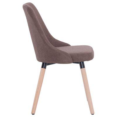 vidaXL virtuves krēsli, 2 gab., brūns audums