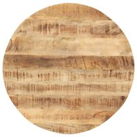 vidaXL galda virsma, 15-16 mm, 80 cm, apaļa, mango masīvkoks