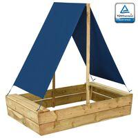 vidaXL smilšu kaste ar jumtu, 80x60x97,5 cm, impregnēts priedes koks
