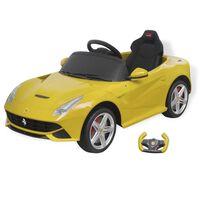 vidaXL bērnu automašīna Ferrari F12, tālvadības pults, dzeltena. 6 V