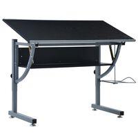 vidaXL pusaudžu rasēšanas galds, melns, 110x60x87 cm, MDF