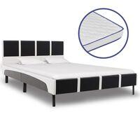 vidaXL gulta ar atmiņas efekta matraci, mākslīgā āda, 140x200 cm