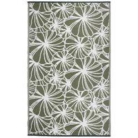 Esschert Design āra paklājs, 241x152 cm, ziedu raksts, OC21