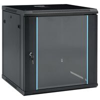 "vidaXL 12U servera skapis, 19"", IP20, 600x600x640 mm"