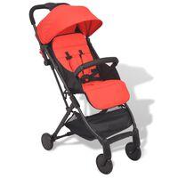 vidaXL saliekamie bērnu pastaigu ratiņi, 89x47,5x104 cm, sarkani
