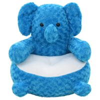 vidaXL rotaļu zilonis, zils plīšs