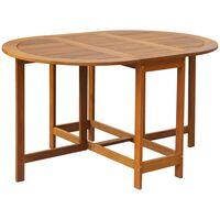 vidaXL dārza galds, 130x90x72 cm, akācijas masīvkoks