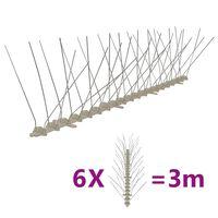 vidaXL putnu atbaidīšanas radzes, 4 rindas, 6 gab., 3 m, plastmasa
