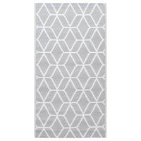 vidaXL āra paklājs, 120x180 cm, pelēks PP