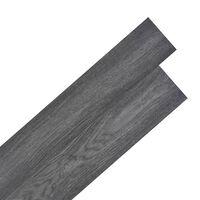 vidaXL grīdas dēļi, pašlīmējoši, 5,02 m², 2 mm, PVC, melni ar baltu