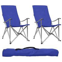 vidaXL saliekami kempinga krēsli, 2 gab., zili