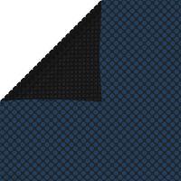 vidaXL baseina pārklājs, solārs, peldošs, 732x366 cm, melns un zils PE