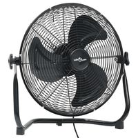vidaXL grīdas ventilators ar 3 ātrumiem, 40 cm, 40 W, melns