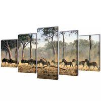 Modulārā Foto Glezna Zebras 100 x 50 cm