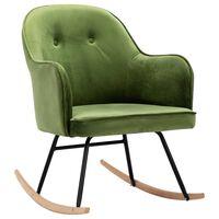 vidaXL šūpuļkrēsls, gaiši zaļš samts