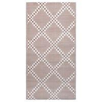 vidaXL āra paklājs, 160x230 cm, brūns PP