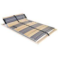 vidaXL gultas redeles, 42 līstītes, 7 zonas, 100x200 cm