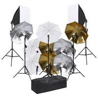 vidaXL fotostudijas apgaismojuma komplekts un gaismas izkliedētāji