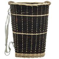 vidaXL malkas grozs ar lencēm, 50x44x58 cm, vītols
