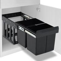 vidaXL izvelkama atkritumu tvertne, lēnās aizvēršanas sistēma, 36 L
