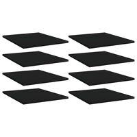 vidaXL plauktu dēļi, 8 gab., melni, 40x50x1,5 cm, skaidu plāksne