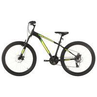 vidaXL kalnu velosipēds, 21 ātrums, 27,5'', 38 cm, melns
