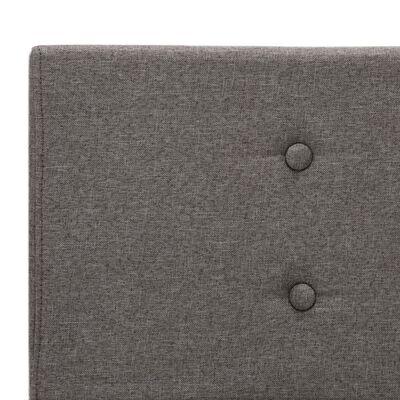 vidaXL gultas rāmis, pelēkbrūns audums, 160x200 cm