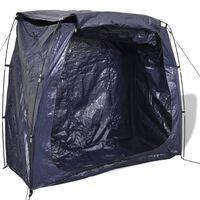 VidaXL Zila velosipēdu uzglabāšanas telts 200x80x150 cm
