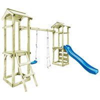 vidaXL rotaļu laukums ar kāpnēm, slidkalniņu un šūpolēm, 300x197x218cm
