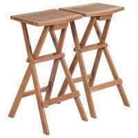 vidaXL saliekami bāra krēsli, 2 gab., masīvs tīkkoks
