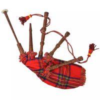 vidaXL bērnu skotu dūdas, Great Highland, karaliski sarkanais rūtojums