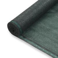 vidaXL tenisa laukuma tīkls, HDPE, 1,4x50 m, zaļš