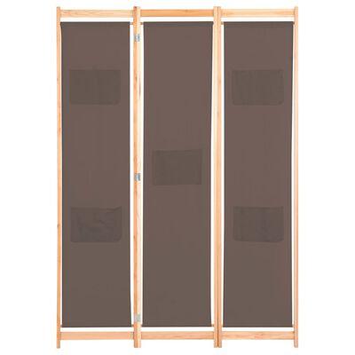 vidaXL 6-paneļu istabas aizslietnis, 240x170x4 cm, brūns audums