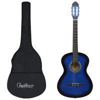 """vidaXL klasiskā ģitāra iesācējiem ar somu, zila, 4/4, 39"""""""
