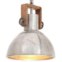 vidaXL griestu lampa, industriāls dizains, sudrabaina, 25 W, 30cm, E27