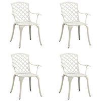 vidaXL dārza krēsli, 4 gab., liets alumīnijs, balti
