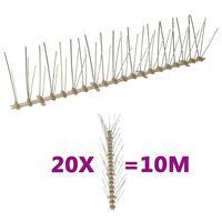 vidaXL putnu atbaidīšanas radzes, 5 rindas, 20 gab., 10 m, plastmasa