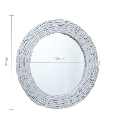 vidaXL spogulis, 40 cm, balts, pīts