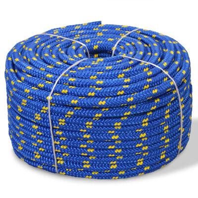 vidaXL pietauvošanās virve, 10 mm, 50 m, polipropilēns, zila
