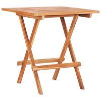 vidaXL saliekams bistro galds, 60x60x65 cm, masīvs tīkkoks