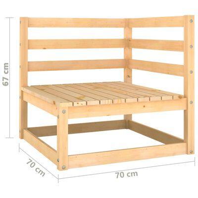 vidaXL 5-daļīgs dārza atpūtas mēbeļu komplekts ar matračiem, priede