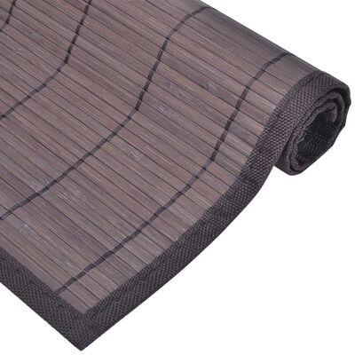 Galda paliktņi, 6 gab., 30x45 cm, tumši brūns bambuss