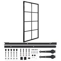 vidaXL bīdāmās durvis, alumīnijs un ESG stikls, 90x205 cm