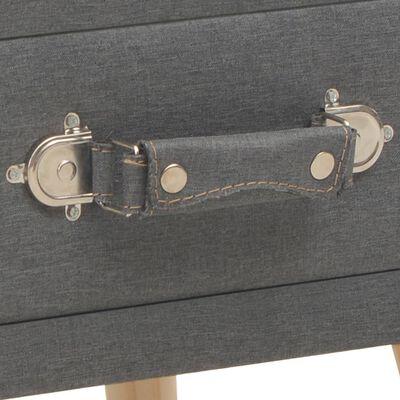vidaXL naktsskapīši, 2 gab., 40x35x40 cm, tumši pelēks audums
