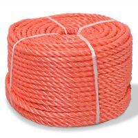 vidaXL vīta virve, polipropilēns, 8 mm, 500 m, oranža